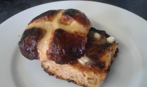 Spiced toasted hot cross bun